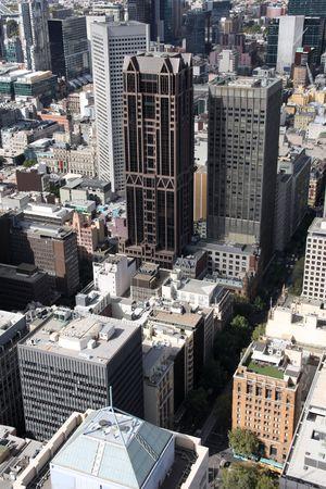 moltitudine: Paesaggio urbano del centro di Melbourne, Australia. Moltitudine di grattacieli. Veduta aerea.