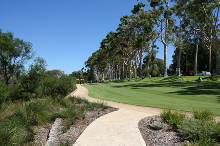 King's Park in Perth, Western Australia. Green recreation area.
