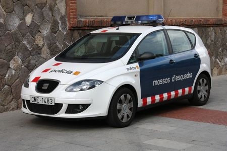 founded: BARCELONA - SEPTEMBER 13: Mossos dEsquadra Seat Altea police car on September 13, 2009 in Barcelona. According to their official website, it is the oldest civil police force in Europe, founded in 18th century.