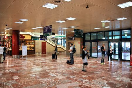 BOLOGNA - SEPTEMBER 19: Interior view on September 19, 2009 at Bologna International Airport. With 4.9 million annual passengers, the airport is 9th busiest in Italy. Stock Photo - 6886981