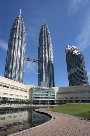 Twin Towers - famous landmark of Kuala Lumpur, Malaysia.