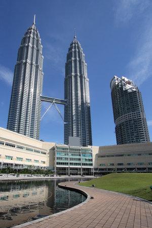 klcc: Twin Towers - famous landmark of Kuala Lumpur, Malaysia. Editorial