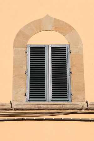 Mediterranean architecture in Florence, Italy. Old window. Stock Photo - 6387964