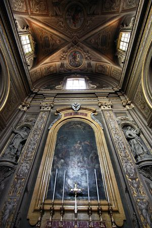 Ferrara, Italy. Cathedral interior. Beautiful religious architecture. Stock Photo - 6422537