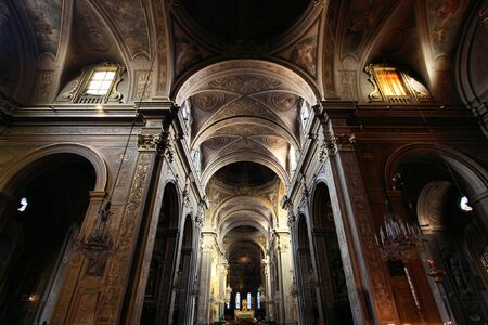 Ferrara, Italy. Cathedral interior. Beautiful religious architecture. Stock Photo - 6422527