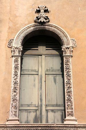 Padua, Italy. Mediterranean decorative architecture. Old window. Stock Photo - 6422514