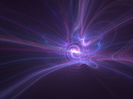 smoothness: Graphics texture. Computer rendered background. 3D fractal. Purple light explosion.
