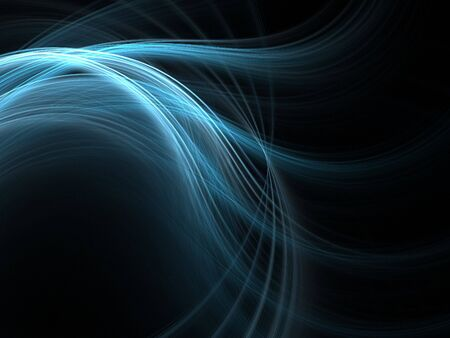 Graphics abstract texture. Computer rendered background. 3D fractal. Smooth blue waves. photo