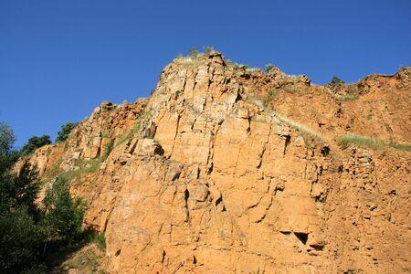 gory: Ex cava di dolomia (roccia dolomitica) in Bobrowniki, Tarnowskie Gory, Polonia Archivio Fotografico