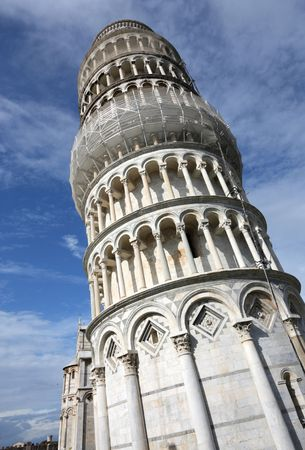 Leaning Tower of Pisa, Italy. Famous landmark, inscribed on UNESCO World Heritage List. Stock Photo - 6501647