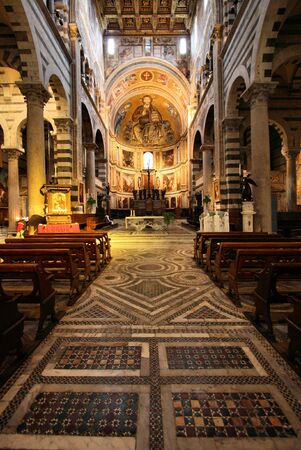 Pisa, Tuscany, Italy. Famous cathedral interior view. UNESCO World Heritage Site. Stock Photo - 6501649