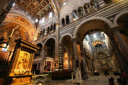 Pisa, Tuscany, Italy. Famous cathedral interior view. UNESCO World Heritage Site. Stock Photo - 6501650