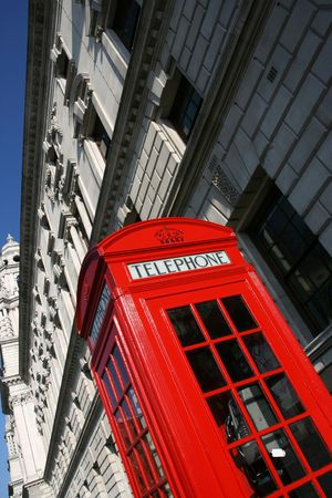 London telephone booth in abstract view - symbol of Great Britain. Stock Photo - 6561674