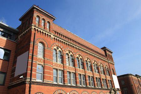 Birmingham Jewellery Quarter. Old brick factory building. West Midlands, England.