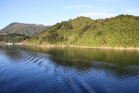 aotearoa: Queen Charlotte Sound - famous scenic tourism destination in Marlborough region of New Zealand. Fiord bay.