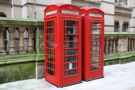 Birmingham red telephone boxes. West Midlands, England. Stock Photo - 6737705