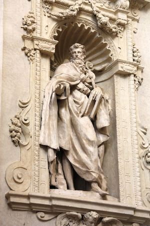 Saint Ignatius of Antioch - statue by Clemente Molli in Chiesa del Santissimo Salvatore church in Bologna, Italy Stock Photo - 6850458