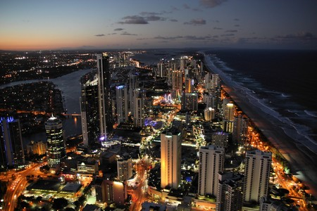 Skyscraper city - Surfers Paradise city in Gold Coast region of Queensland, Australia photo