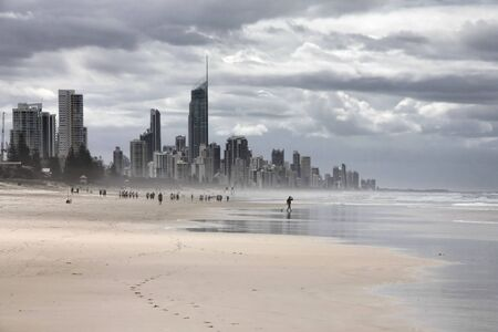 Rainy weather in Australia - Surfers Paradise town in Gold Coast region of Queensland Stock Photo - 7033031
