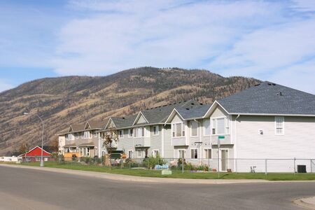 Typical suburban housing estate - Kamloops, British Columbia, Canada photo