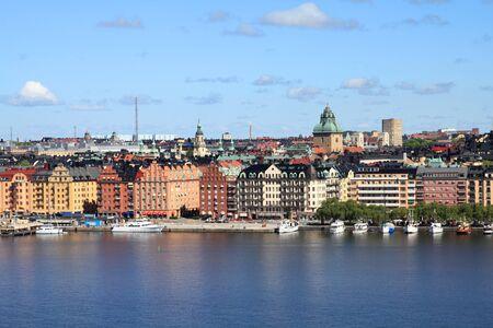 Stockholm, Sweden. Skyline of Kungsholmen island seen from Sodermalm island, across Riddarfjarden channel. Stock Photo - 7118527