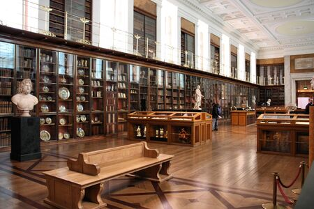 british museum: LONDON - JANUARY 20, 2009: Interior of British Museum on January 20, 2009. British Museum is an object of criticism, because of holding artefacts from other countries including Greece, Nigeria and Egypt.