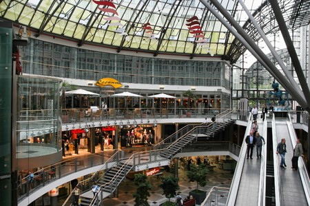 JENA, GERMANY - SEPTEMBER 1: View of Goethe Galerie shopping mall on September 1, 2008 in Jena, Germany. Goethe Gallerie is among the largest shopping galleries in the Free State of Thuringia. Stock Photo - 7137776