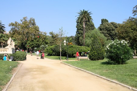 parc: Barcelona, Spain. Famous Parc de la Ciutadella. Stock Photo