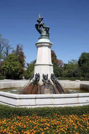 Famous sculpture in Retiro Park in Madrid, Spain - Lucifer, the Fallen Angel (Satan) photo