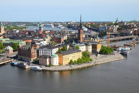 Stockholm, Sweden. View of famous Gamla Stan (the Old Town), Stadsholmen island. Stock Photo - 7313196
