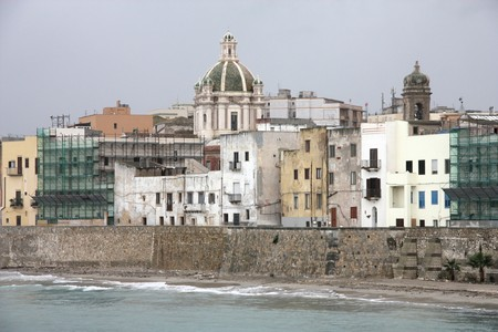 Trapani, Sicily, Italy. Old town architecture skyline. photo