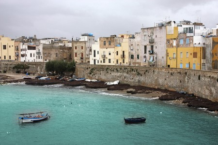 trapani: Trapani, Sicily, Italy. Old town architecture skyline.