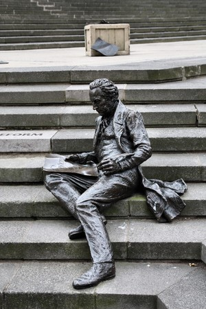 Birmingham, United Kingdom. Statue of Thomas Attwood, famous British economist and political agitator. photo