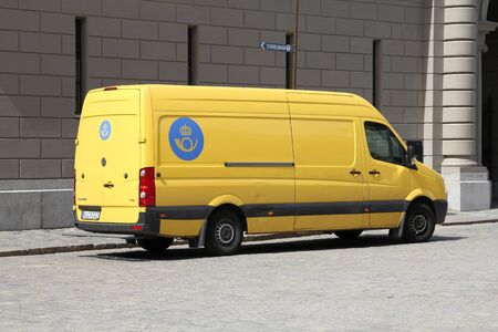 continued: STOCKHOLM - JUNE 1: VW Crafter of Posten Norden postal company on June 1, 2010 in Stockholm, Sweden. Posten Norden announced in May 2010 that it maintains operating earnings despite continued poor demand.