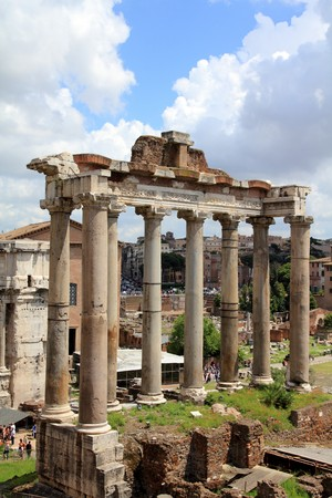 Rome, Italy. One of the most famous landmarks in the world - Roman Forum. photo