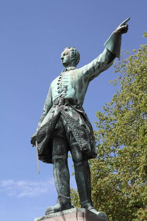 karl: King of Sweden - Charles XII (Karl XII). Statue in Stockholm. Stock Photo