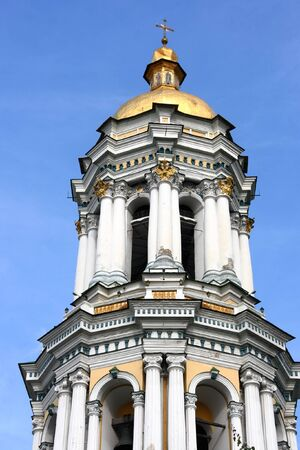 Great Lavra Belltower or the Great Belfry of the ancient cave monastery of Kiev Pechersk Lavra in Kiev (Kyiv), the capital of Ukraine photo