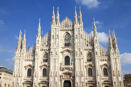 Milan, Italy. Famous landmark - the cathedral made of Candoglia marble. photo