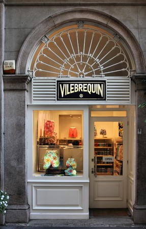 MILAN - OCTOBER 7: Vilebrequin store on October 7, 2010 in Milan's Via della Spiga street. Via della Spiga is considered one of the most prestigious streets to buy luxury fashion in Europe (source: Lonely Planet). Stock Photo - 8028747