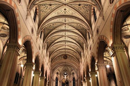 Modena, Italy - Emilia-Romagna region. Interior of the Church of Saint Francis (Chiesa San Francesco). Stock Photo - 8080231