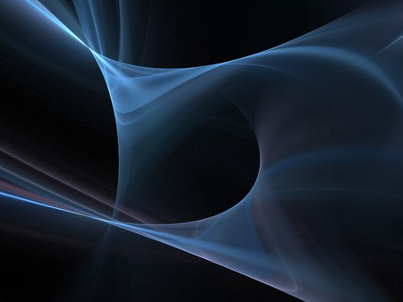 smoothness: Graphics texture. Computer rendered background. 3D fractal. Swirled blue light abstract.