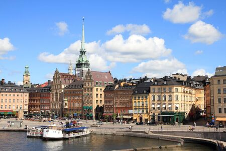 Stockholm, Sweden. View of famous Gamla Stan (the Old Town). Stock Photo - 8080255