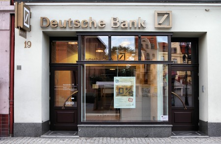 trillion: POLAND - SEPTEMBER 5: Deutsche Bank on September 5, 2010 in Torun, Poland. DB is the largest German bank and 4th largest worldwide with assets of USD 2.43 trillion as of 2010.