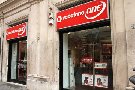ROME - MAY 12: Vodafone One store on May 12, 2010 in Rome, Italy. Vodafone Group recently reported equity shareholders profit rise for H1/2010 - from 4.82 bln GBP to 7.54 bln GBP this year. Stock Photo - 8194464