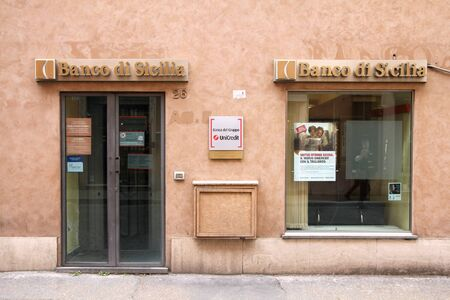 yoy: ROME - MAY 12: Banco di Sicilia branch on May 12, 2010 in Rome, Italy. The bank is part of UniCredit group which recently announced rise of 9 month profit to 2,713 million EUR in 2010 (+1.2% YoY). Editorial