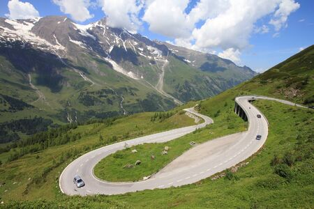Mountains in Austria. Hohe Tauern National Park, Glocknergruppe range of mountains. Hochalpenstrasse - famous mountain road. Stock Photo - 8239569