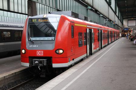 STUTTGART - JULY 24: Deutsche Bahn Regio train class 425 on July 24, 2010 in Stuttgart, Germany. DB took over Arriva Plc company in August 2010. Class 425 train was manufactured by Siemens, Bombardier and DWA. Stock Photo - 8226082