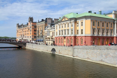 Stockholm, Sweden. Norrmalm borough, with colorful old architecture. Stock Photo - 8318364