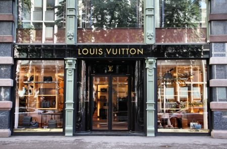 oslo: OSLO - AUGUST 21: Louis Vuitton store on August 21, 2010 in Stockholm. Forbes says that Louis Vouitton was the most powerful luxury brand in the world in 2008 with $19.4bn USD value.