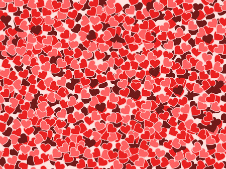 Hearts background - Valentine's day illustration. Love texture. Stock Vector - 8370194